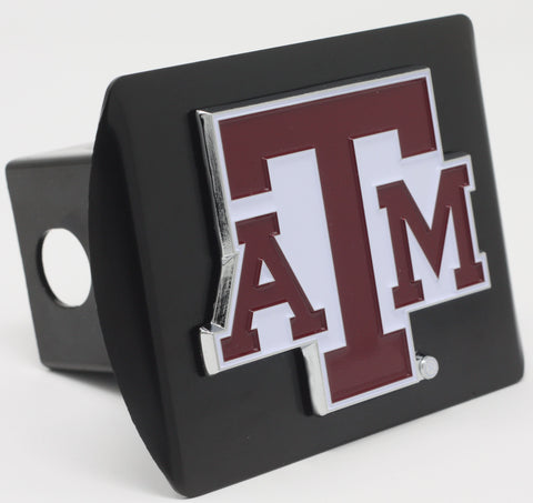 "Texas A&M University Color Metal Hitch Black 3.4""x4"""