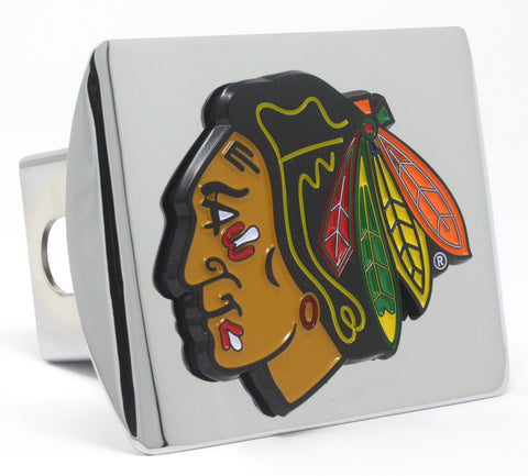 Chicago Blackhawks Color Chrome Hitch Cover