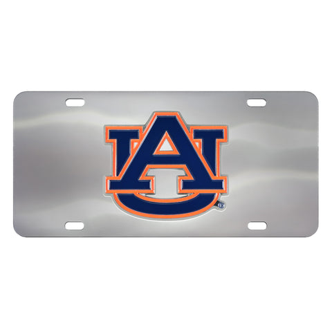 Auburn Tigers Stainless Steel Diecast License Plate