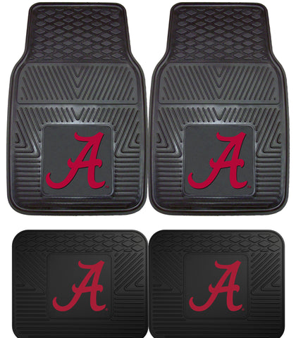 Alabama Crimson Tide 4 Piece Heavy Duty Car Floor Mat Set