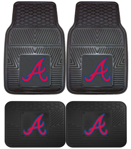 Atlanta Braves Heavy Duty 2 and 4 Piece Car Floor Mat Sets