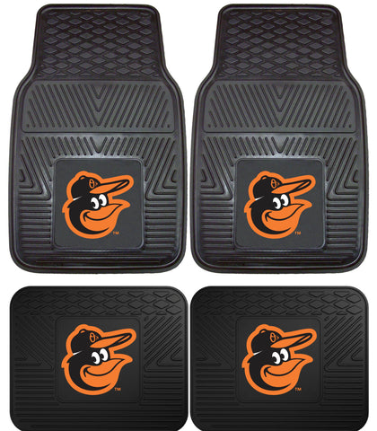 Baltimore Orioles Heavy Duty 2 and 4 Piece Car Floor Mat Sets