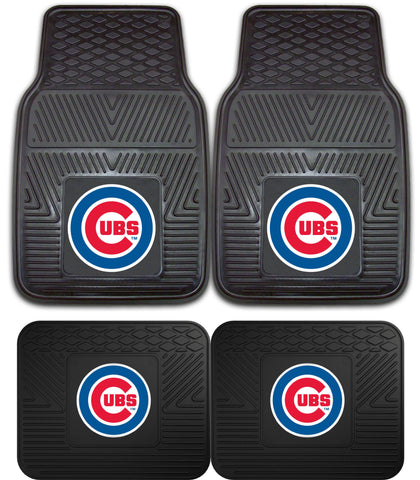 Chicago Cubs Heavy Duty 4 Piece Car Floor Mat Sets