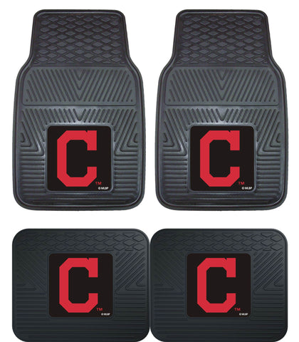 Cleveland Indians Heavy Duty 2 and 4 Piece Car Floor Mat Sets