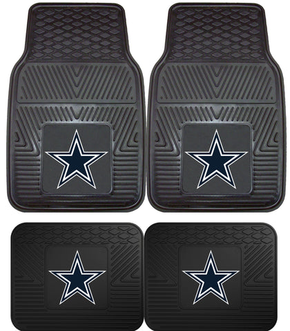 Dallas Cowboys 2 and 4 Piece Car Floor Mat Sets