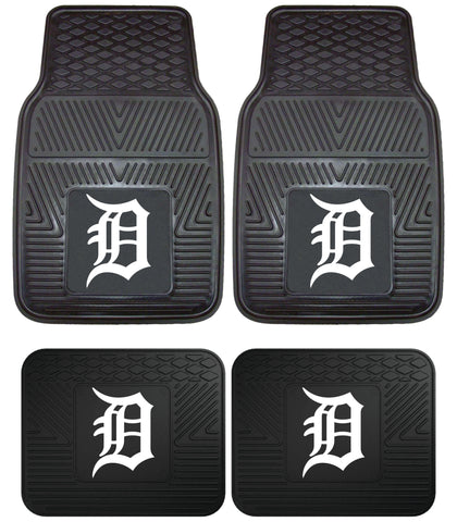 Detroit Tigers Heavy Duty 2 and 4 Piece Car Floor Mat Sets