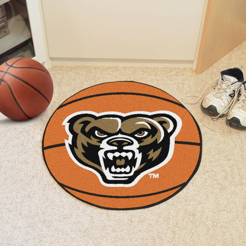 Oakland University Basketball Mat