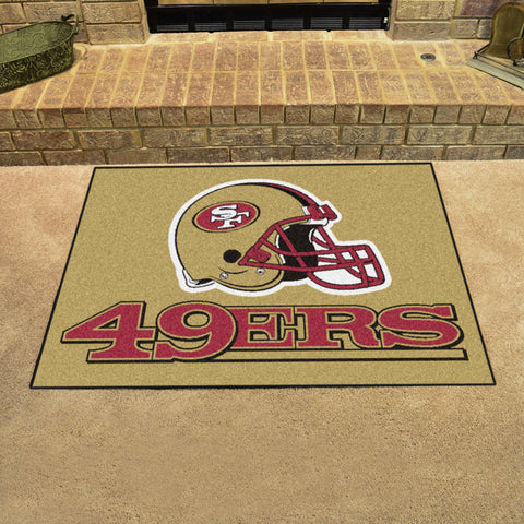 San Francisco 49ers All Star Area Rug Mat Model 5832