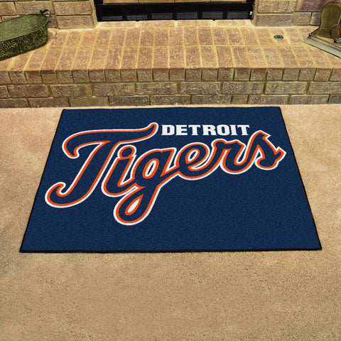Detroit Tigers All Star Area Rug Mat Model 6378