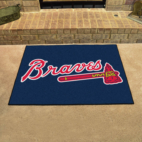 Atlanta Braves All Star Area Rug Mat Model 6428