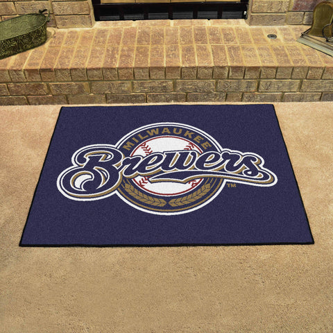 Milwaukee Brewers All Star Area Rug Mat Model 6487
