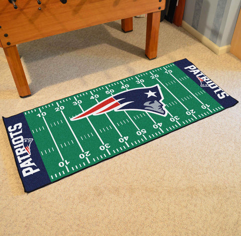 "New England Patriots Football Field Runner Area Rug Mat by Fanmats 30""x72"" Item Number 7341"
