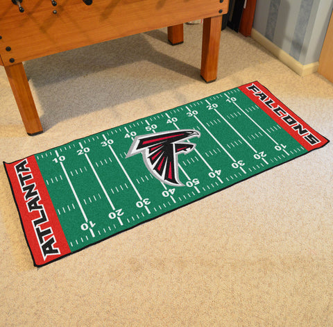 "Atlanta Falcons Football Field Runner Area Rug Mat by Fanmats 30""x72"" Item Number 7342"