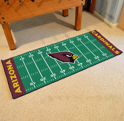 "Arizona Cardinals Football Field Runner Area Rug Mat by Fanmats 30""x72"" Item Number 7343"
