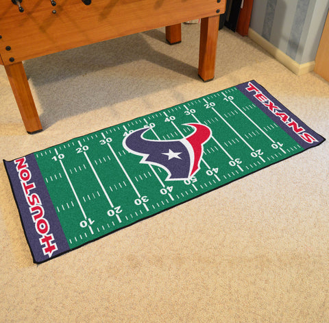 "Houston Texans Football Field Runner Area Rug Mat by Fanmats 30""x72"" Item Number 7353"
