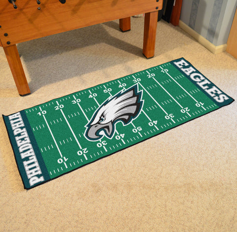 "Philadelphia Eagles Football Field Runner Area Rug Mat by Fanmats 30""x72"" Item Number 7363"