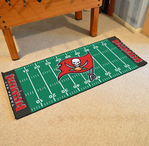 "Tampa Bay Buccaneers Football Field Runner Area Rug Mat by Fanmats 30""x72"" Item Number 7368"