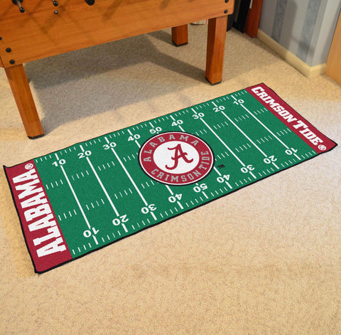 "Alabama Football Field Runner Area Rug Mat by Fanmats 30""x72"" Item Number 7529"