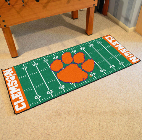 "Clemson Football Field Runner Area Rug Mat by Fanmats 30""x72"" Item Number 7537"