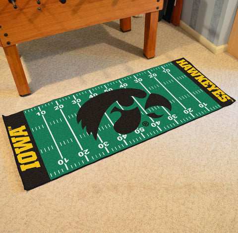 "Iowa Football Field Runner Area Rug Mat by Fanmats 30""x72"" Item Number 7542"