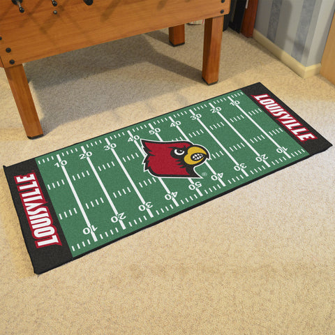 "Louisville Football Field Runner Area Rug Mat by Fanmats 30""x72"" Item Number 7547"