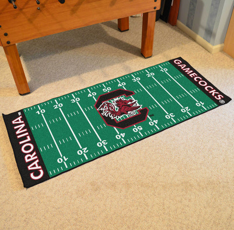 "South Carolina Football Field Runner Area Rug Mat by Fanmats 30""x72"" Item Number 7560"