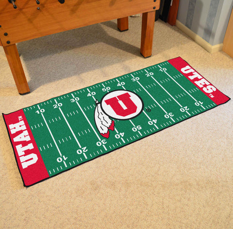 "Utah Football Field Runner Area Rug Mat by Fanmats 30""x72"" Item Number 7565"