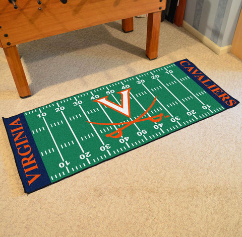 "Virginia Football Field Runner Area Rug Mat by Fanmats 30""x72"" Item Number 7566"