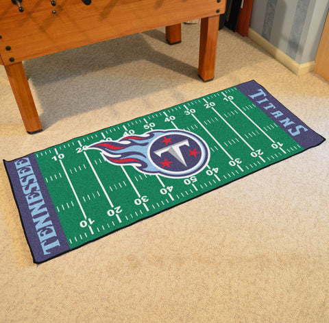 "Tennessee Titans Football Field Runner Area Rug Mat by Fanmats 30""x72"" Item Number 7965"