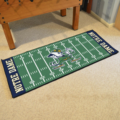 "Notre Dame Football Field Runner Area Rug Mat by Fanmats 30""x72"" Item Number 8056"