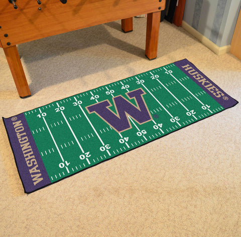 "Washington Football Field Runner Area Rug Mat by Fanmats 30""x72"" Item Number 8368"