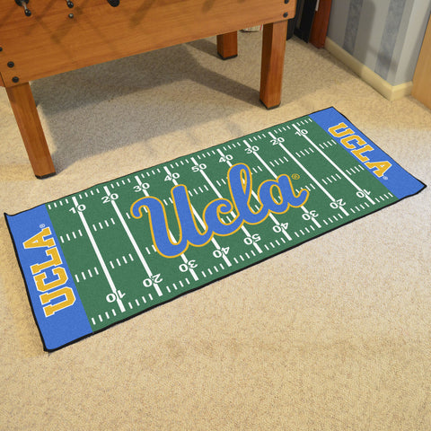 "UCLA Football Field Runner Area Rug Mat by Fanmats 30""x72"" Item Number 8471"