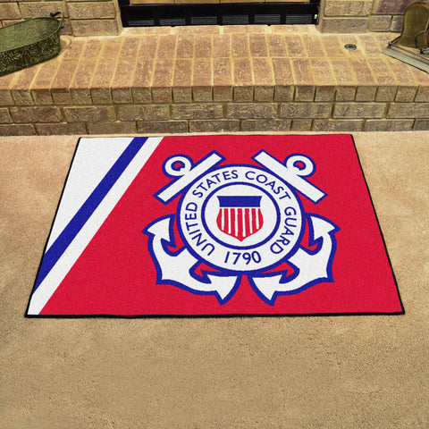 U.S. Coast Guard All Star Area Rug Mat Model 9552