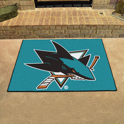 San Jose Sharks All Star Area Rug Mat Model 10668