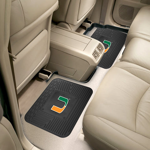 University of Miami Rear Seat Mats