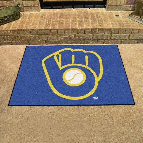 Milwaukee Brewers All Star Area Rug Mat Model 16839