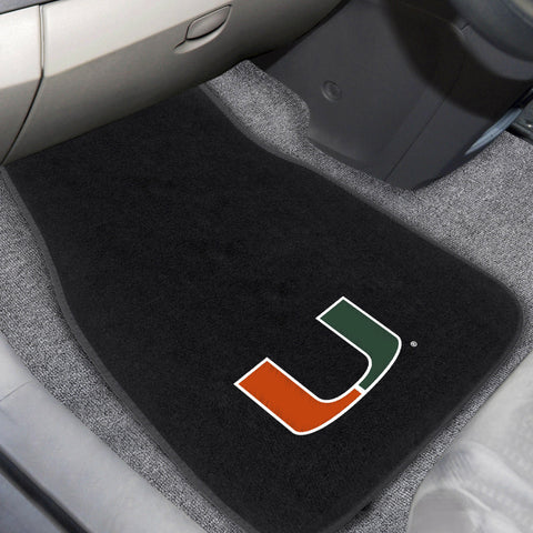 University of Miami Embroidered Car Mats