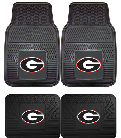 Georgia Bulldogs 4 Piece Heavy Duty Car Floor Mat Set