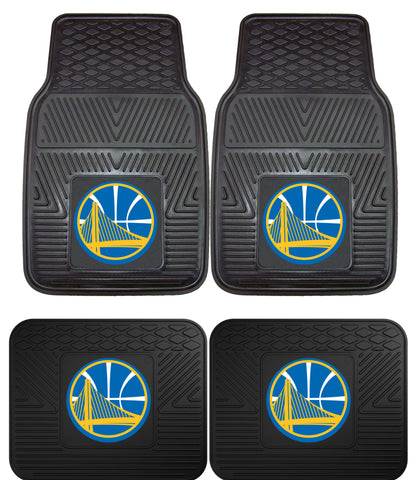 Golden State Warriors 2 and 4 Piece Car Floor Mat Sets