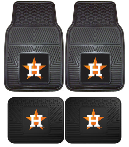 Houston Astros Heavy Duty 2 and 4 Piece Car Floor Mat Sets
