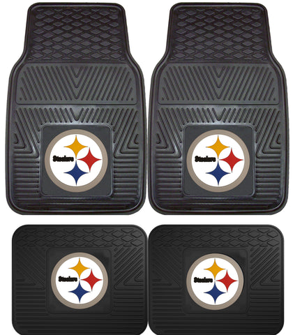 Pittsburgh Steelers 4 Piece Car Floor Mat Sets