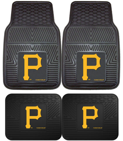 Pittsburgh Pirates Heavy Duty 2 and 4 Piece Car Floor Mat Sets