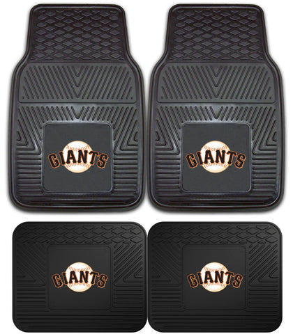 San Francisco Giants Heavy Duty 2 and 4 Piece Car Floor Mat Sets