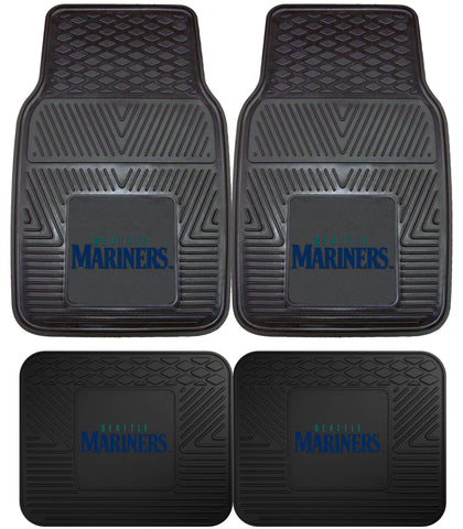 Seattle Mariners Heavy Duty 2 and 4 Piece Car Floor Mat Sets