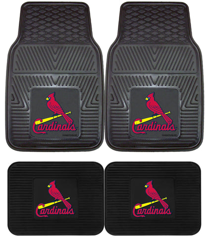 St Louis Cardinals Heavy Duty 2 and 4 Piece Car Floor Mat Sets