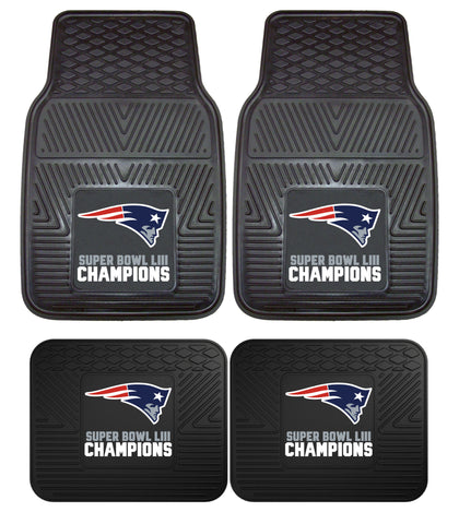 New England Patriots Super Bowl LIII 4 Piece Heavy Duty Car Mats