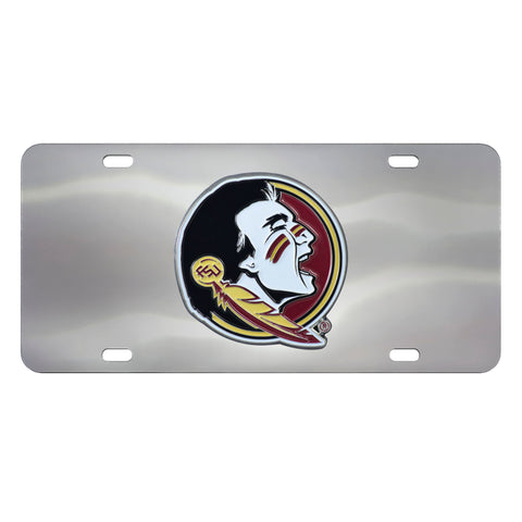 Florida State Seminoles Stainless Steel Diecast License Plate