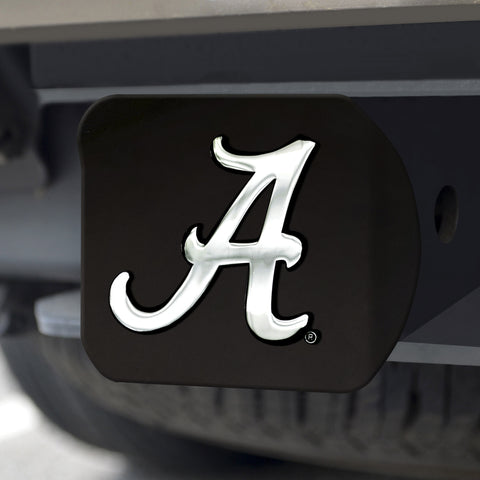 "Alabama Black Hitch Cover 4 1/2""x3 3/8"""