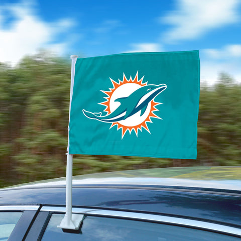 "Miami Dolphins 11""x14"" 2-Sided Window Mounted Car Flag"