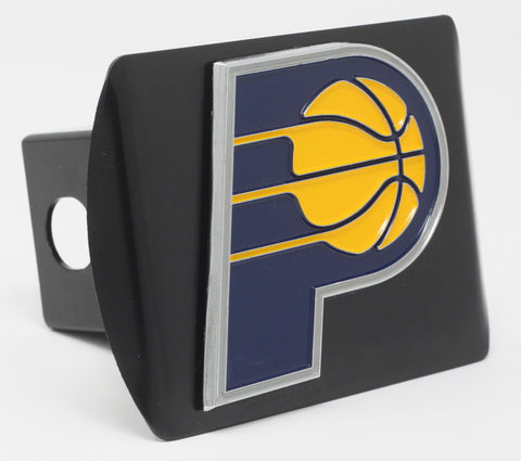"Indiana Pacers Color Metal Hitch Black 3.4""x4"""